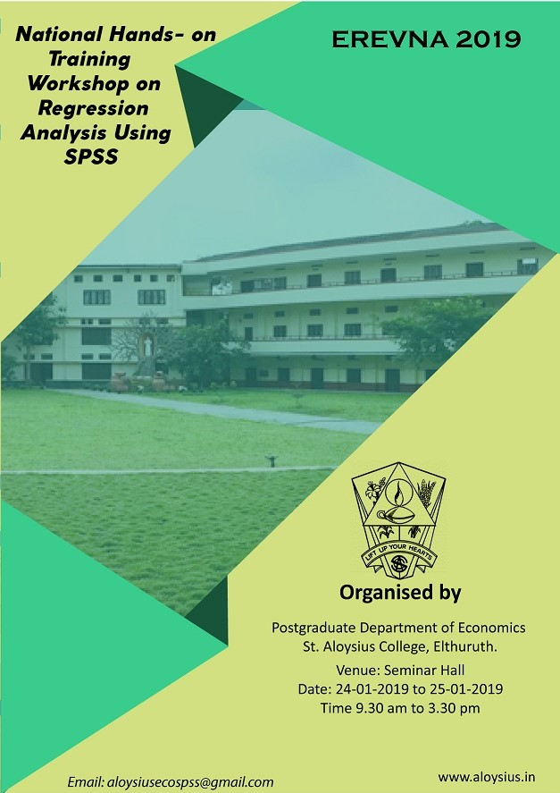TWO DAY NATIONAL WORKSHOP ON REGRESSION ANALYSIS