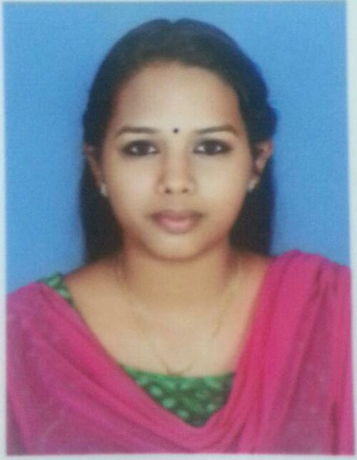 Congratulations Ms. Vibitha P. Varghese, Rank Holder of Calicut University
