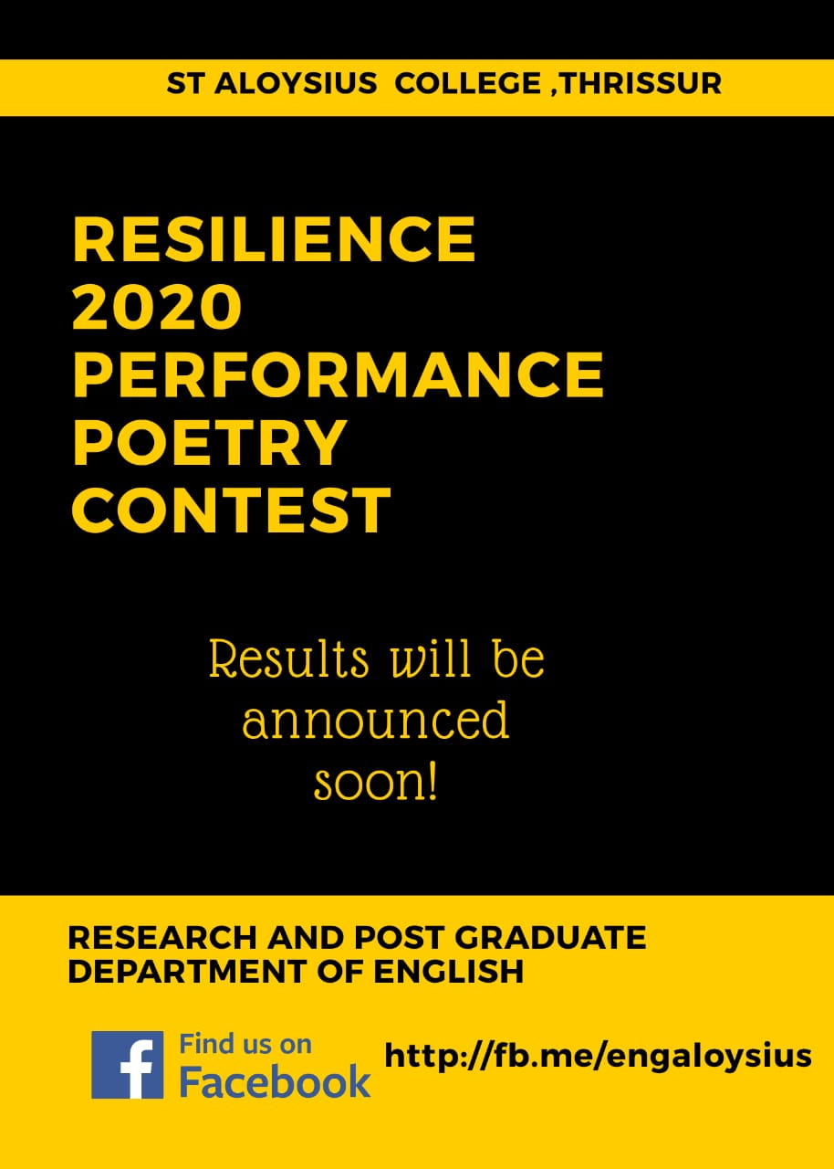 RESILIENCE 2020 PERFORMANCE POETRY CONTEST